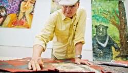 73歲才開始畫畫的董事長,蘇一仲畫紙上飆創意