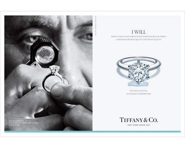 Tiffany百年手工美鑽大揭祕 問世130週年「我願意」宣傳活動