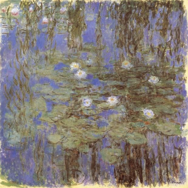 莫內,〈藍睡蓮〉、〈垂柳〉