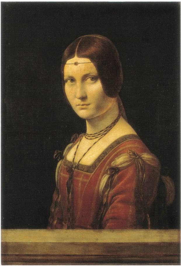 達文西,〈戴著額飾的女子〉