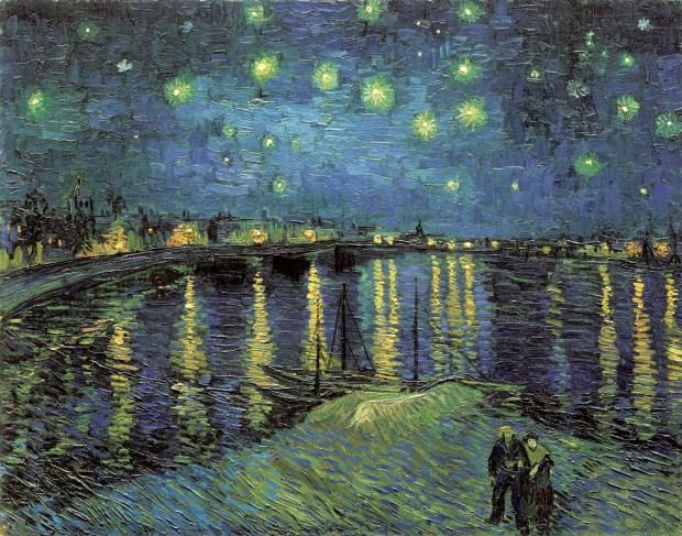 梵谷,〈隆河上的星夜〉