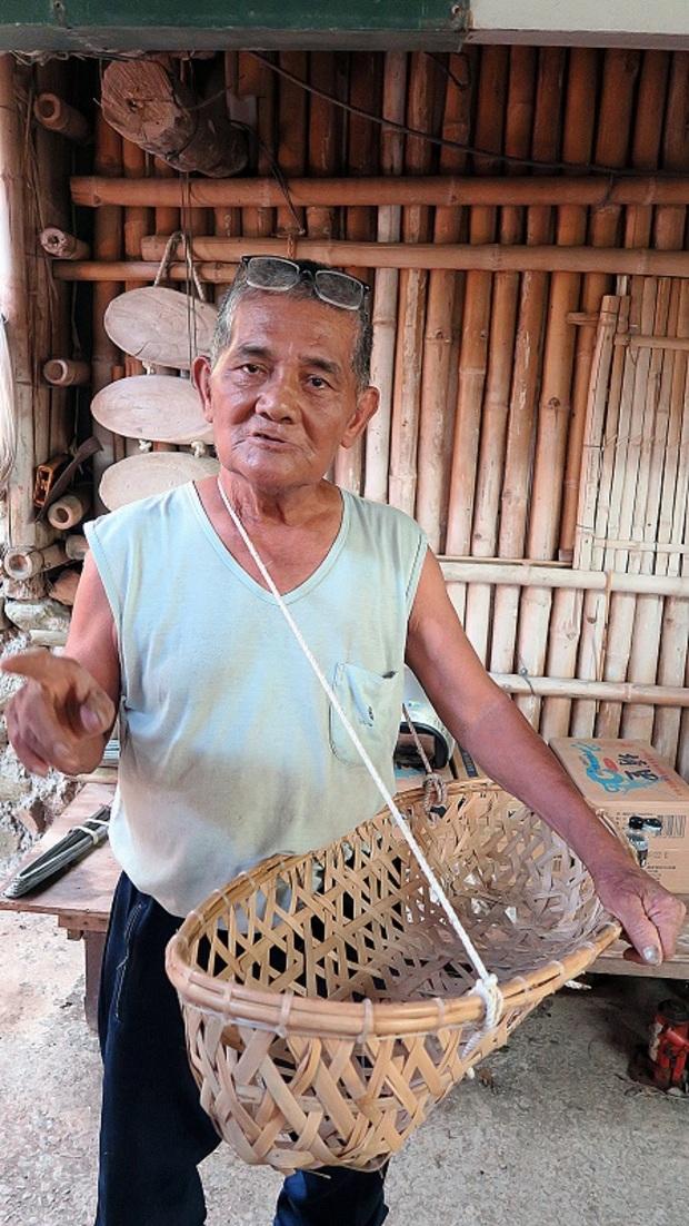 排灣族祖傳的竹編搖籃